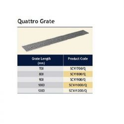 Harmer Stainless Steel Shower Channel Quattro Grate For