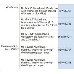 "No 12 x 2"" Roundhead Woodscrew"