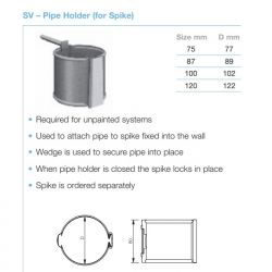 Lindab Circular Steel Downpipe SV Pipe Holder For Spike (SV)