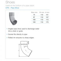 Lindab Circular Steel Downpipe Shoe (UTK)