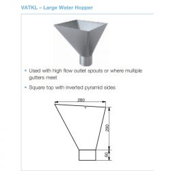 Lindab Steel Large Square Hopper (VATKL)