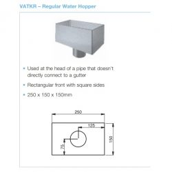 Lindab Steel Small Rectangular Hopper (VATKR)