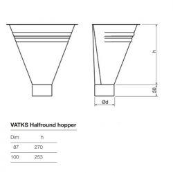Lindab Steel Half Round Hopper (VATKS)