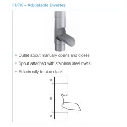 Lindab Circular Steel Downpipe Manual Rainwater Diverter (FUTK)