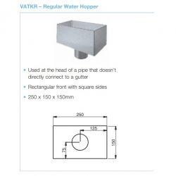 Lindab Steel Small Rectangular Hopper (VATKR)