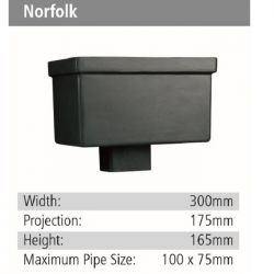 Norfolk Rainwater GRP Hopper Head