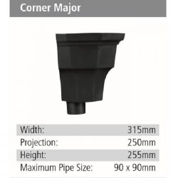 Corner Major Rainwater GRP Hopper Head