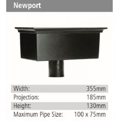 Newport Rainwater GRP Hopper Head