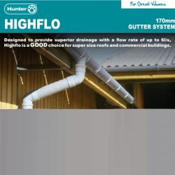 Hunter Highflo 170mm Gutter...