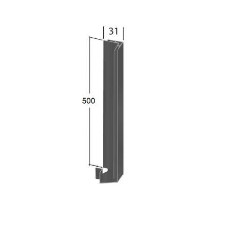 "Aluminum angular profile alu corner white or anthracite powder coated/""/"""